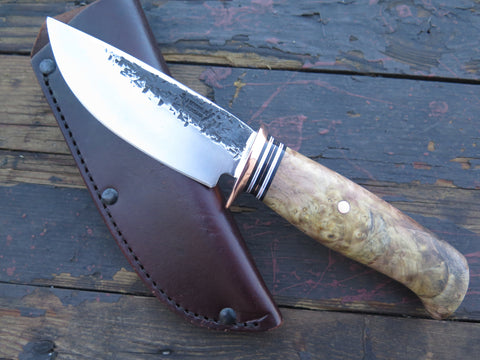 Buckeye Burl Drop Point