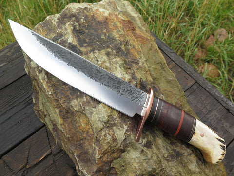 Sambar Stag and Horsrehide Camp Knife