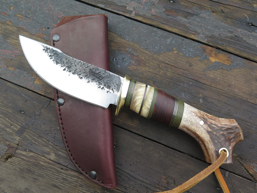 Crotch Stag, Horsehide and Musk Ox Woodcraft