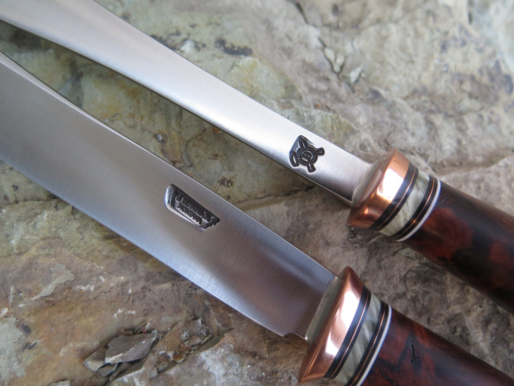 Desert Ironwood Burl and Ox Boss Carving Set