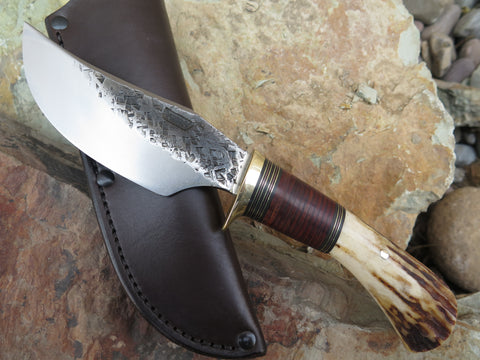 Sambar Stag and Horsehide Finger Grip Hunter