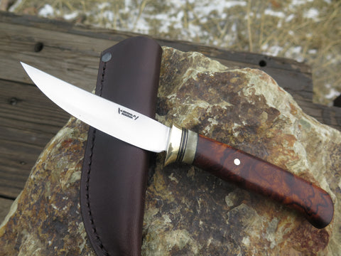 Premium Desert Ironwood Burl and Ox Boss Pintail