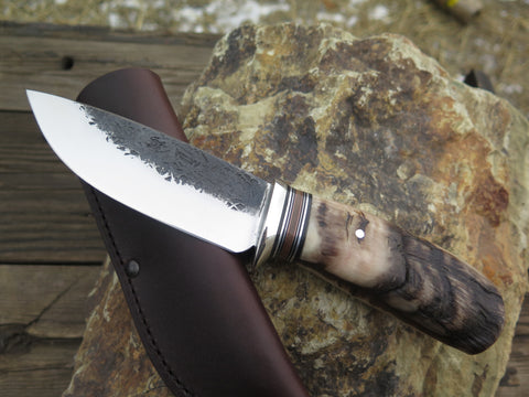 Premium Sheep Horn & Walrus Drop Point