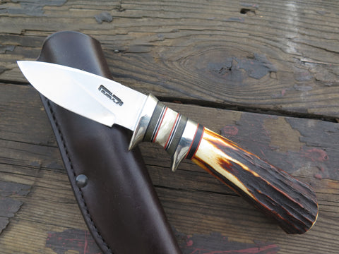 "Randall Knives ""Triathlete"" w/ Behring Made Sambar Stag, Ox & Subhilt Rehandle"
