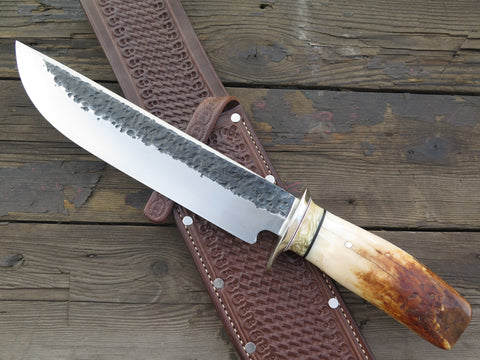 J. Behring Jr. Handmade Premium Artifact Walrus and Ox Studbaker Camp Knife