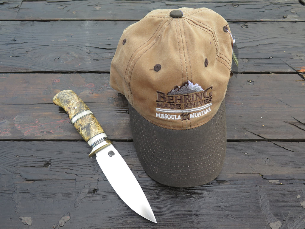 Behring Made™ Waxed Canvas Hunting Cap - Coyote / Chocolate