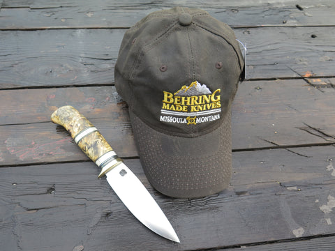 Behring Made™ Waxed Canvas Hunting Cap - Earth Brown