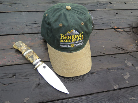 Behring Made™ Waxed Canvas Hunting Cap - Forest Green/Tan