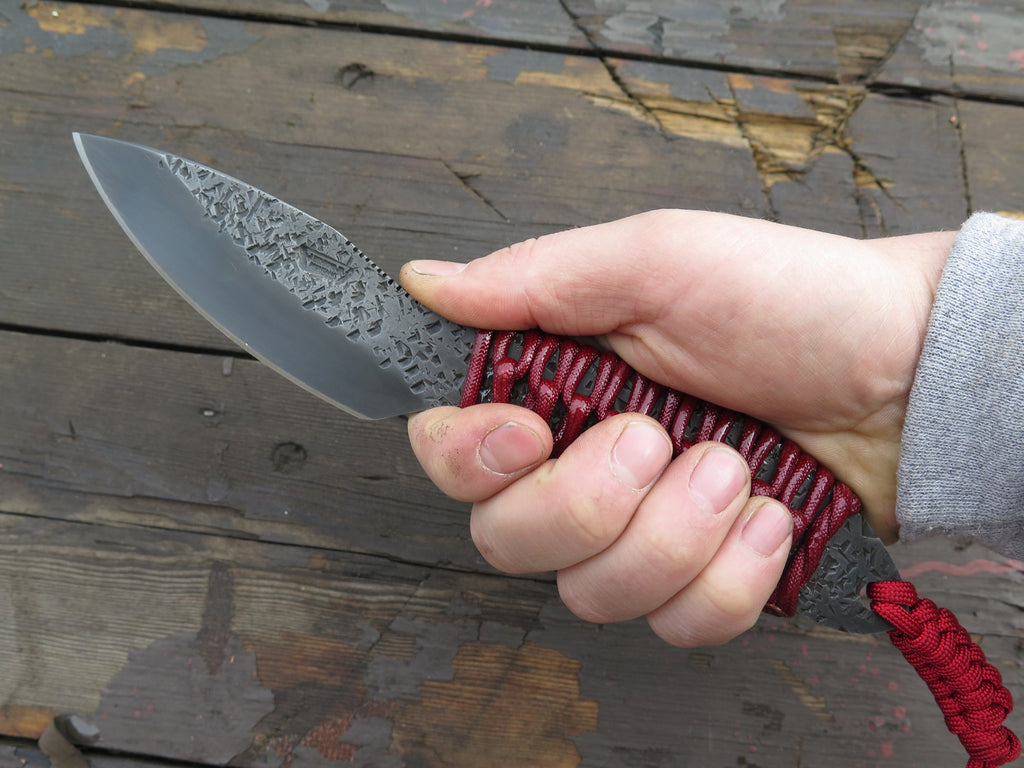 Behring Pro LT Canadian Belt Knife - Blued / Crimson