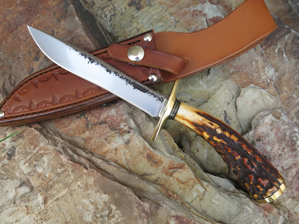 Popcorn Stag & Brass Fighter in Glacier Leather
