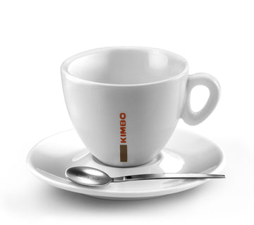 Kimbo Cappuccino Cup Ceramic and Saucer