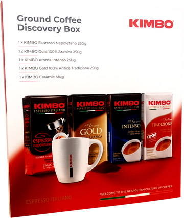 Kimbo Ground Coffee Discovery Box Set