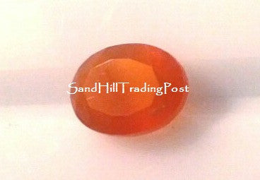 Faceted Oval Cut Carnelian Cabochon AAA