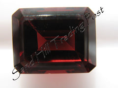 Emerald Cut Red Almandite Garnet AAA