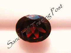 Oval Cut Red Almandite Garnet AAA