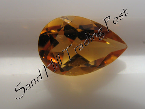 Pear Cut Golden Citrine AAA