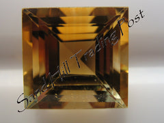 Square Cut Golden Citrine AAA