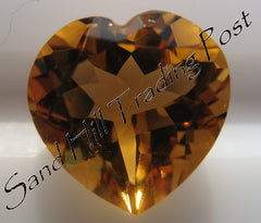 Heart Cut Golden Citrine AAA