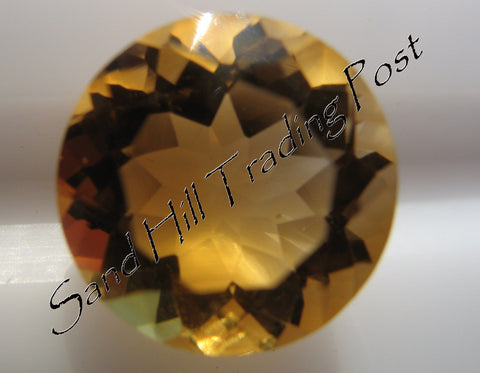 Round Cut Golden Citrine AAA