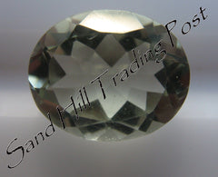 Oval Cut Green Amethyst AAA