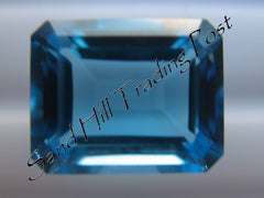 Emerald Cut Swiss Blue Topaz AAA