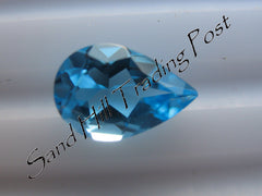 Pear Cut Swiss Blue Topaz AAA