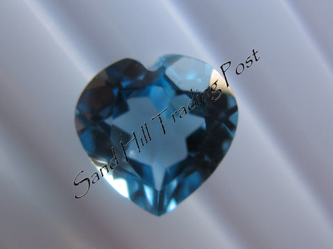Heart Cut London Blue Topaz AAA