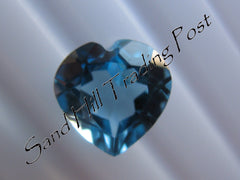 Heart Cut Swiss Blue Topaz AAA