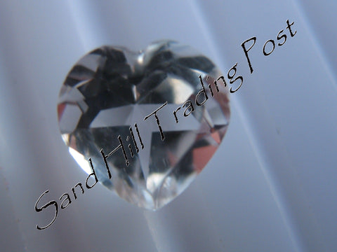 Heart Cut White Topaz AAA