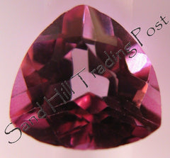 6 mm Trillion Cut Pink Topaz AAA
