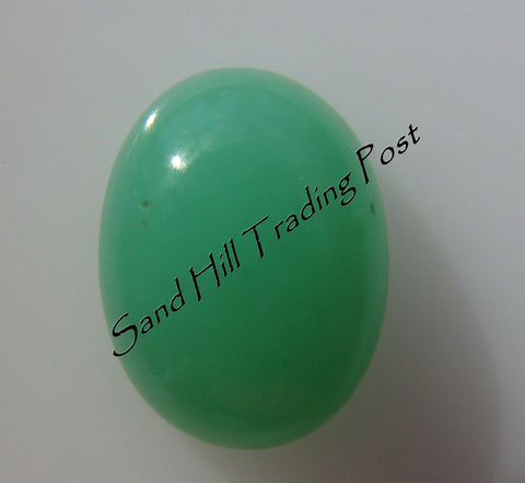 Oval Cut Chrysoprase Cabochon AAA