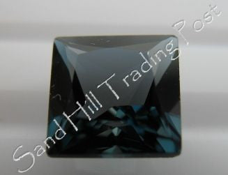 Princess Cut London Blue Topaz AAA