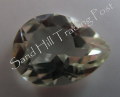 Pear Cut Green Amethyst AAA
