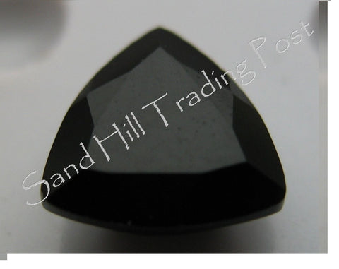 Trillion Cut Faceted Black Onyx AAA