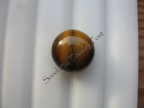 Round Cut Tiger Eye Cabochon AAA