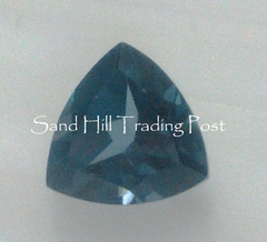 6 mm Trillion Cut London Blue Topaz AAA