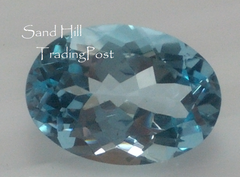 Oval Cut Sky Blue Topaz AAA