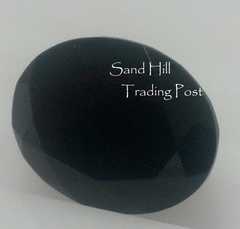 Oval Cut Faceted Black Onyx AAA