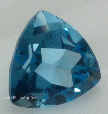 Trillion Cut Swiss Blue Topaz AAA