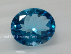 Oval Cut Swiss Blue Topaz AAA