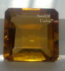 Asscher Cut Golden Citrine AAA