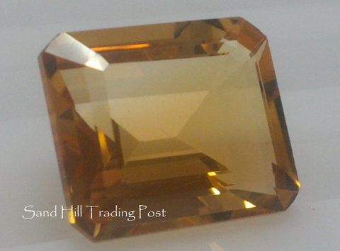 Emerald Cut Golden Citrine AAA