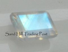 Emerald Cut Rainbow Moonstone AAA