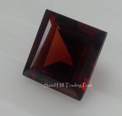 Square Cut Red Almandite Garnet AAA