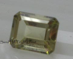 Emerald Cut Lemon Quartz AAA