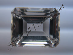 Emerald Cut White Topaz AAA