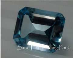 Emerald Cut Sky Blue Topaz AAA