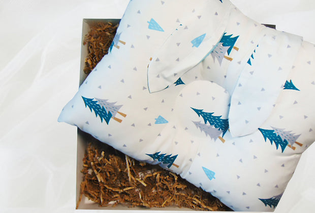 Baby Blue Flat Head Syndrome Pillow