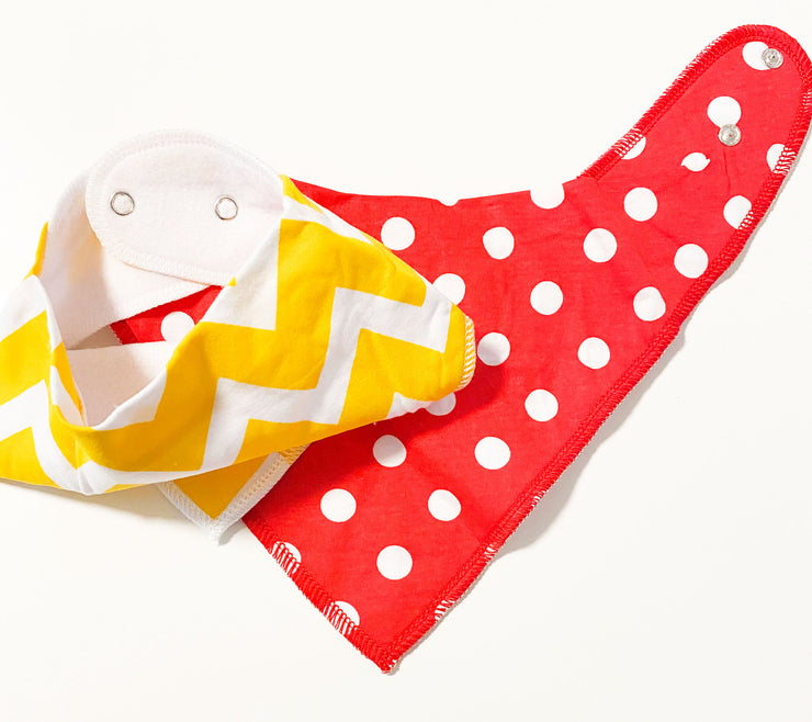 2- Pack Baby Bibs, Baby Bandana Drool Bibs for Drooling and Teething, Organic Cotton and Super Absorbent Hypoallergenic Bibs