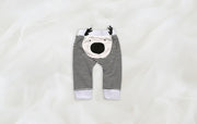 Reindeer 100% cotton baby pants